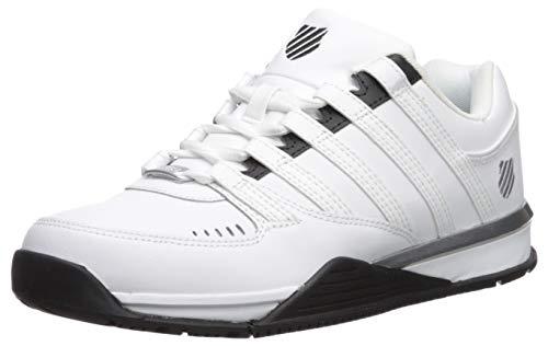 K-Swiss Herren Baxter Sneaker, Weiß (White/Black/Silver 125), 46 EU