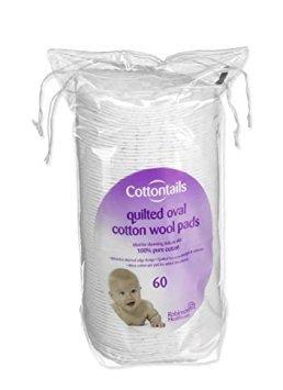 Cottontails Lot de 60 cotons ovales
