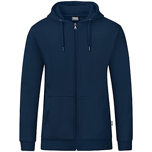 JAKO AG Organic - Chaqueta con capucha (talla XL), color azul marino