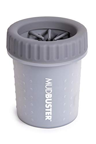 Dexas MudBuster Portable Dog Paw Washer/Paw Cleaner, Small, Light Gray