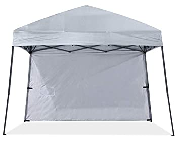 ABCCANOPY Stable Pop up Outdoor Canopy Tent with 1 Sun Wall 10x10 Bonus Backpack Bag Gray