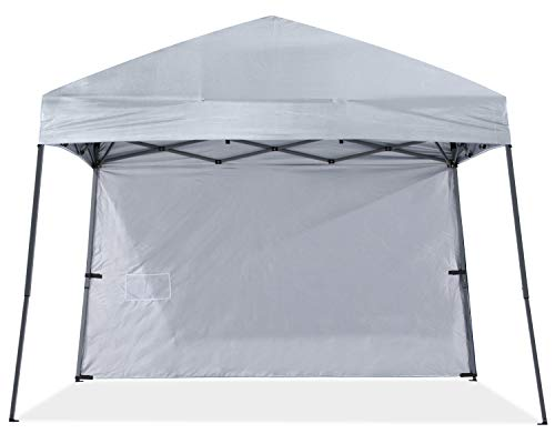 ABCCANOPY Stable Pop up Outdoor Canopy Tent with 1 Sun Wall, Bonus Backpack Bag,Gray