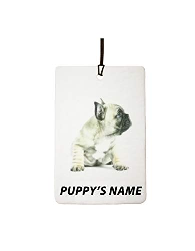 Personalized French Bulldog Puppy Car Air Freshener
