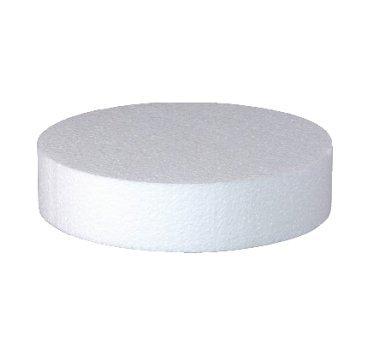Base per torta circolare in polistirolo per cake design altezza 5 cm, diametro a scelta (Diametro 20 cm)