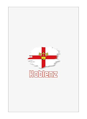 Tipolitografia Ghisleri Handtuch, Strandtuch, Handtuch Koblenz mit Flagge 42
