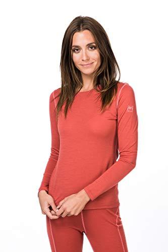 super.natural Base 175 T-Shirt à Manches Longues en Laine mérinos pour Femme XS Tandoori/Georgia Peach