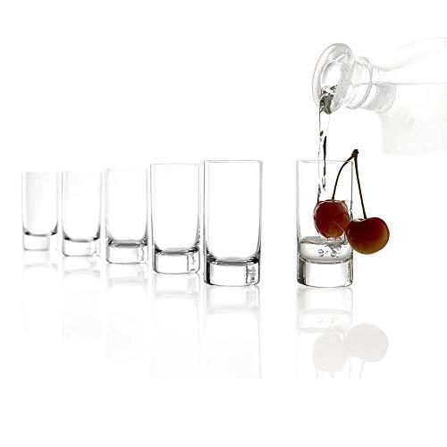 Stölzle Lausitz Schnapsgläser I 6 Shotgläser I Stamper Likörgläser I 57 ml I Kurze Gläser I spülmaschinentauglich I sehr bruchresistent I hochwertiges Kristallglas I ausgezeichnete Qualität