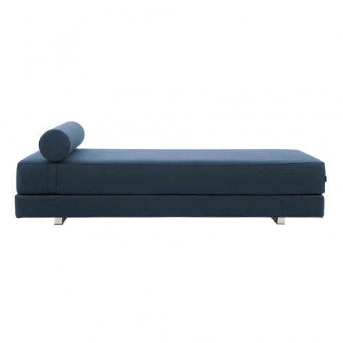 Lubi Schlafsofa/Day Bed, blau Stoff Filz 846 BxHxT 203x65x82cm mit Kaltschaummatratze inkl. Nackenrolle