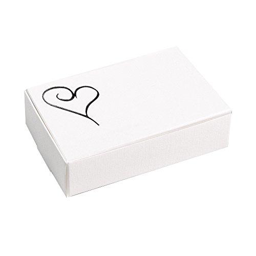 Neviti Moderne Kuchenschachteln in Herzform, Papier, Silber, 10 x 6.2 x 2.5 cm, 10