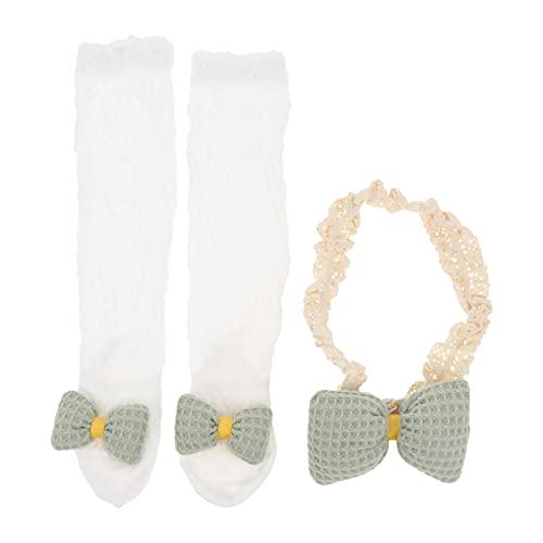 KESYOO 1 Juego de Lazos para Bebé Diademas para Recién Nacido Calcetines Elásticos para La Cabeza Calcetines para Regalos para Bebé Recién Nacido
