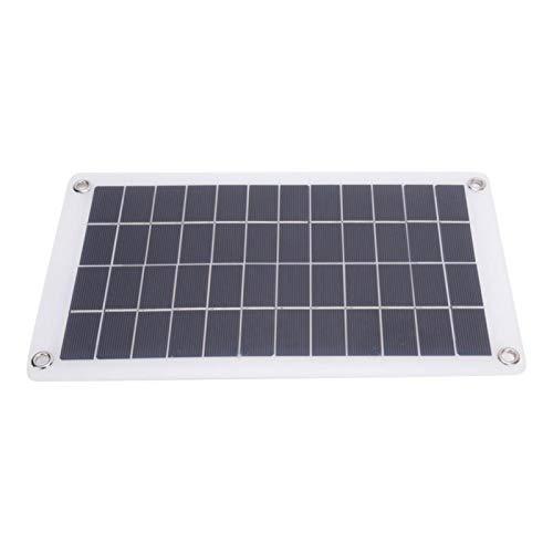 SALUTUYA Panel Solar portátil con Cable 7.5W 12V Silicio monocristalino Ligero para Luces publicitarias para semáforos, Ventiladores eléctricos