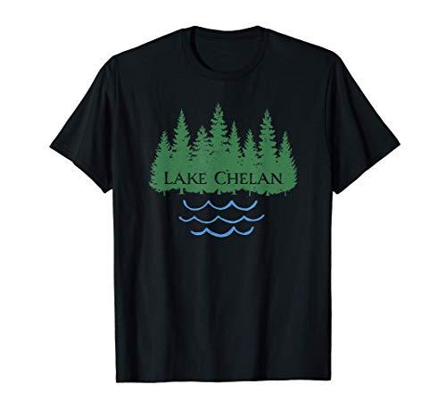 Lake Chelan Washington Tree Silhouette Nature Souvenir T-Shirt
