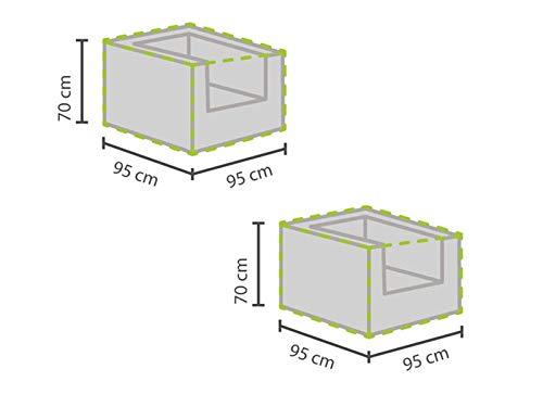 Lot de 2 housses de protection mobilier de jardin/plaques de recouvrement pour tabouret, 95 x 95 cm, résistant aux intempéries