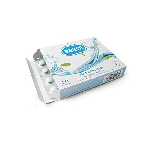 MANASUL - Flora Balance. Complemento alimenticio con 9 Cepas de Bacterias Lácticas y vitaminas. Equilibrío flora intestinal. Estuche de 30 comprimidos.