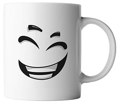 VanVerden Taza – Caras divertidas Emoticon Emoji – Impresión por ambos lados – Idea regalo Taza de café con frase en alemán