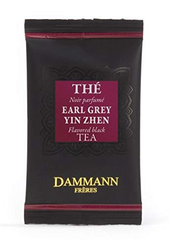 DAMMANN FRERES - Earl Grey Yin Zhen Black Tea - 120 wrapped envelopped tea bags in a bulk box
