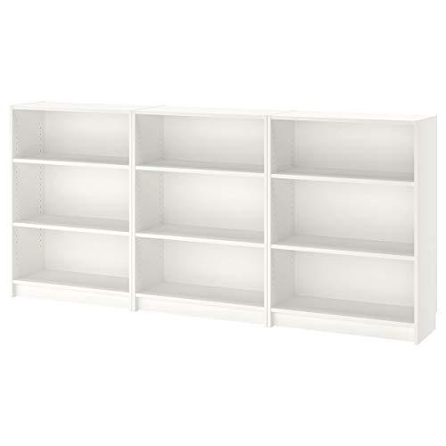 IKEA BILLY librería blanco Ancho: 240 cm Fondo: 28 cm Altura: 106 cm