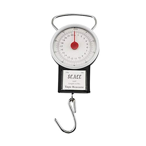 GREENLANS 22KG Portable Fishing Luggage Weighting Hook Handheld Scale with Tape Measure
