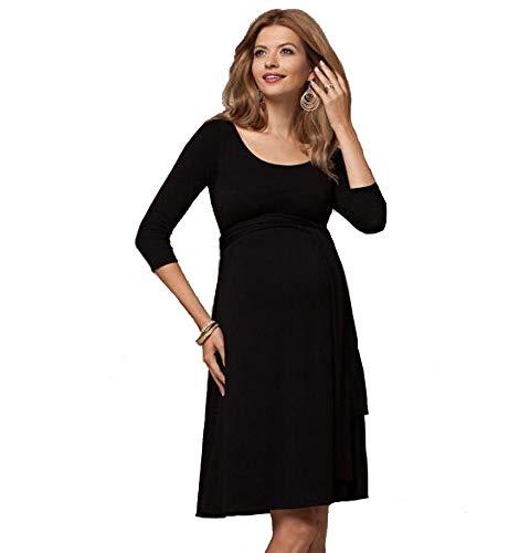 DYMBS Vêtements de maternité Printemps Nouvelle Star tempérament Femme Enceinte Robe d'allaitement Femme Enceinte Jupe Jupe Longue Femme Enceinte