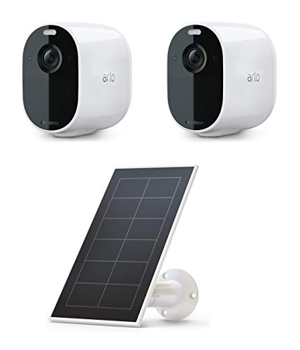 Arlo Essential Spotlight Camera | Wire-Free, 1080p Video | Color Night Vision, 2-Way Audio, Motion Activated, Direct to Wi-Fi, No Hub Needed | Compatible with Alexa with Essential Solar Panel Charger