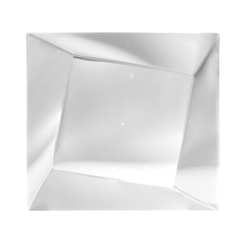 """Party Essentials 10-Count Hard Plastic 9.5"""" Twisted Square Lunch/Dinner Plates, Clear"""