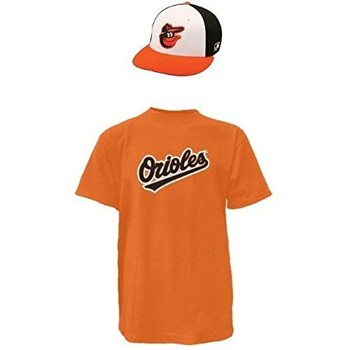 Majestic Combo Cap & Jersey Baltimore Orioles (Adult Cap/Medium Jersey) Orange