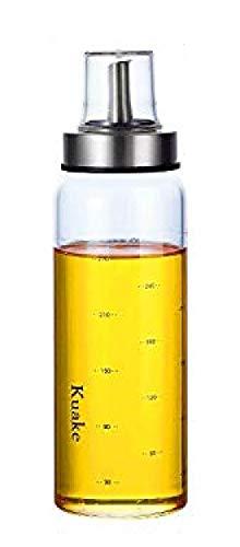 家庭キッチン用 ガラス オイルボトル オイルポット 醤油ボトル 酢ボトル ドレッシング ボトル 漏れ止め 防塵 300ml