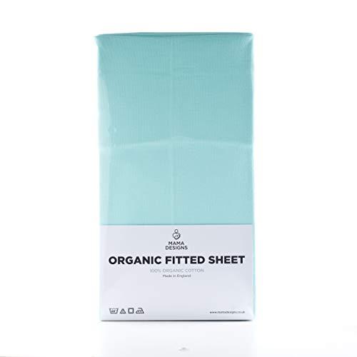Mama Designs - Sábana bajera ajustable de algodón orgánico (120 x 60 cm)