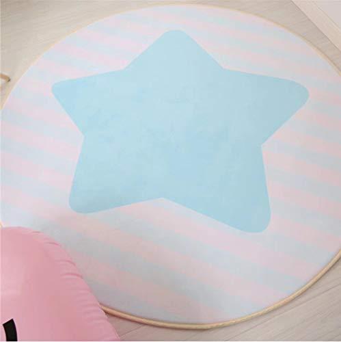Tapis Rond Home Textile Kid Bande de mémoire de mémoire de Bande dessinée Play Play Mats Baby Craming Area Rug S. 120 cm