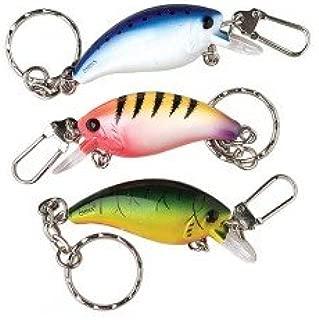Fishing Lure Keychains- Set of 3- Fishing Stocking Stuffers