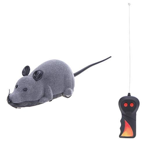 Leoboone Maus Spielzeug Kabellose RC Mäuse Katzenspielzeug Fernbedienung Falsche Maus Neuheit RC Katze Lustige Spielmaus Spielzeug für Katzen