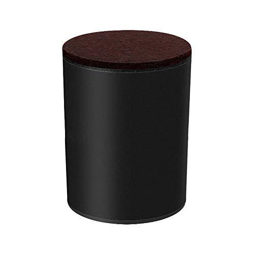YOFASEN 4 Stück Steigrohr-Steigrohrblöcke Aus Kohlenstoffstahl , Hoch Tragende Möbeldekoration DIY-Zubehör Mit Rutschfestem Filz Und Kleber,Schwarz/60X32Mm