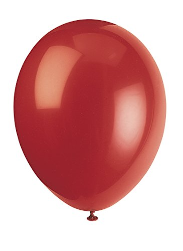 Unique Party-56852 Globos de Látex de 30 cm, Color Rojo (Cherry Red), Pack de 50 (56852)