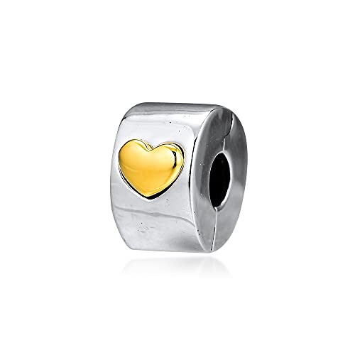 Charms 925 Silver Original Fit Pandora Pulseras Plata De Ley Clásico Clip De Corazón Charm Beads Para Diy Joyería De Mujer