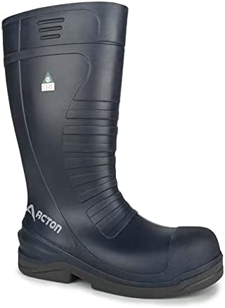 Acton, Ocean | Blue Professional Fishing Safety PU Boots | Superior grip | Metal Free & Ultra Lightweight | Composite Toe Cap