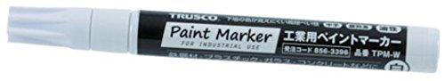 TRUSCO 工業用ペイントマーカー油性中字 白 TPM-W
