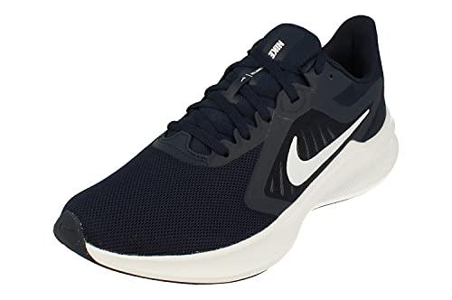 Nike Downshifter 10 Herren Running Trainers CI9981 Sneakers Schuhe (UK 7.5 US 8.5 EU 42, Obsidian White 402)