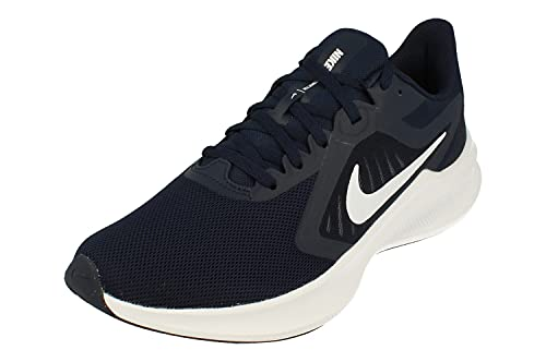 Nike Downshifter 10 Hombre Running Trainers CI9981 Sneakers Zapatos (UK 12 US 13 EU 47.5, Obsidian White 402)