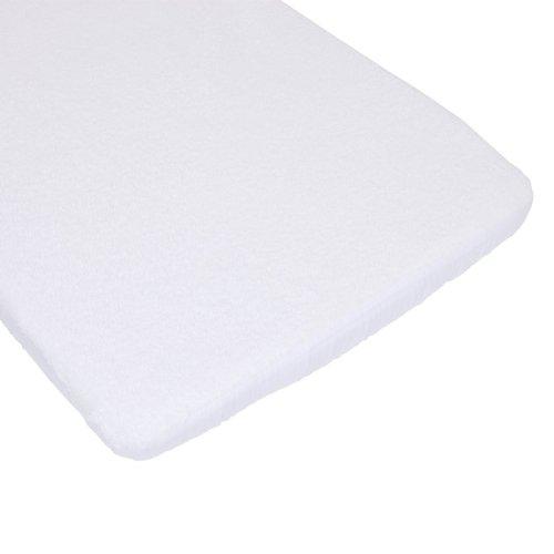 Bolín Bolón 1623801019200 - Sábana Bajera de rizo/plástico para mini cuna, para colchón de 77 X 49 cm, color blanco