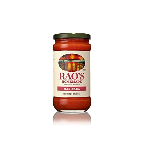 Rao's Homemade Marinara Sauce, 15.5 oz, All Purpose Tomato Sauce, Pasta Sauce, No Sugar Added, Carb Conscious, Keto Friendly, All Natural, Premium Quality, With Italian Tomatoes & Olive Oil