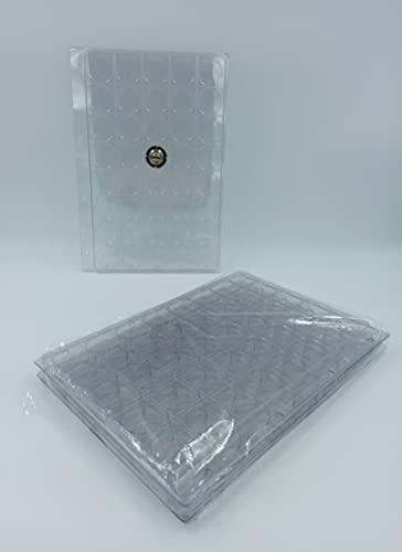 10 recharges Feuilles plaques intercalaires en Plastique pour Rangement Capsules Champagne 40 Cases (pour classeur Format A4) avec Couvercle