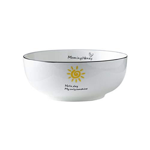 WZNING Tazón de cerámica cálida para el hogar, diseño minimalista, multifunción, multifunción, protección del medio ambiente, porcelana, vajilla, fruta, postre (color: B, tamaño: 5 pulgadas)