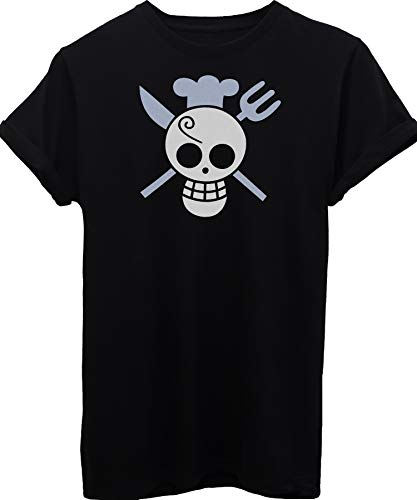 iMage T-Shirt Sanji Logo One Piece - Cartoon - Bambino-XL-Nera