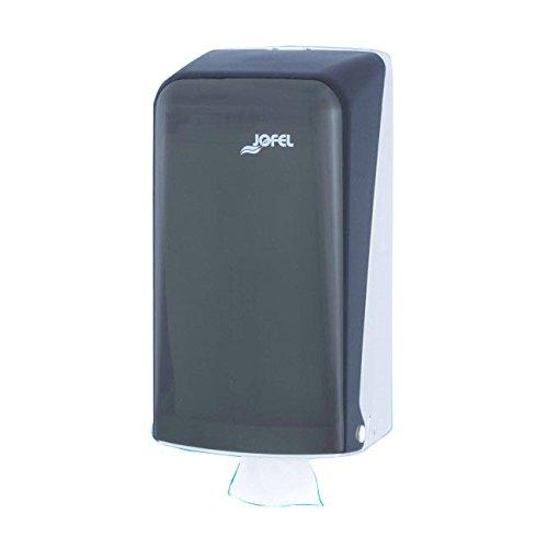 Jofel AH71400 Azur Dispensador de Papel Higiénico Zig-Zag, Fumé