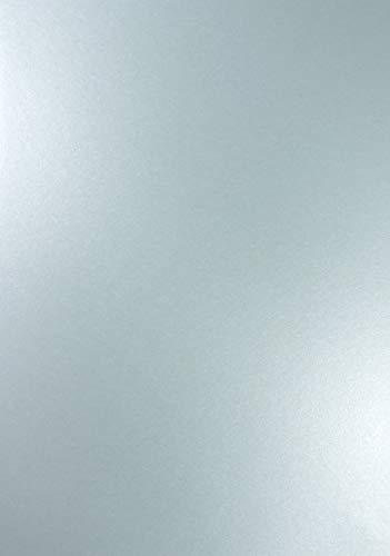 Netuno 10 x Perlmutt-Azur-Blau 120g Papier DIN A4 210x297mm Majestic Damask Blue doppelseitig schimmernd Perlglanz Pearl-Papier metallic glänzend Bastel-Karton für Inkjet und Laser Drucker