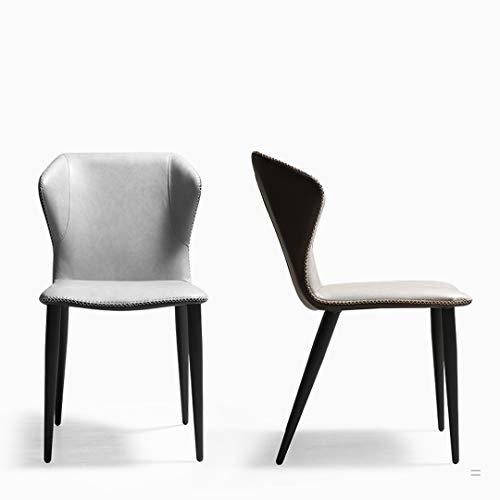 GQF Juego de sillas de Comedor, Que Incluye 1 Silla de Cocina con Respaldo Alto tapizado en Cuero de Microfibra, Patas de Madera con reposabrazos, para Sala de Estar, Dormitorio, Comedor,