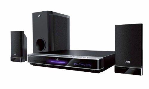 JVC TH BD 30 2.1 BluRay-Heimkinosystem (HDMI, Upscaler 1080p, DivX-Zertifiziert, 300 Watt, USB 2.0) schwarz