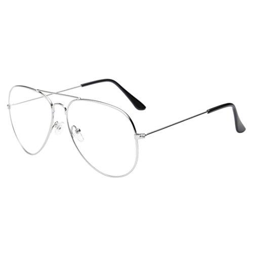Logobeing Hombres Mujeres Gafas de Lentes Transparentes Gafas de Montura de Metal Con Gafas de Miopía