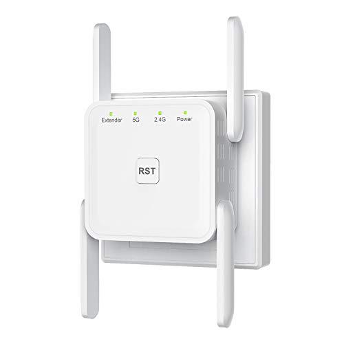 Getue Amplificateur WiFi sans Fil Puissant, Répéteur WiFi 1200Mbps WiFi Répéteur sans...