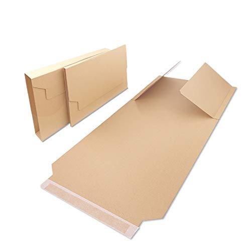Verpacking 25 Universal Buchverpackungen BV 4 | 310x250x20-70 mm | DIN A4 passend | flexible Wickelverpackung | Groß & Maxibrief geeignet | Wickelkarton
